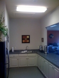 Kitchen area at the RV Resort at Carolina Crossroads in Roanoke Rapids NC, 27870